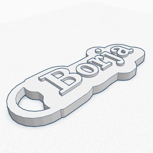 llavero relieve personalizado 3d