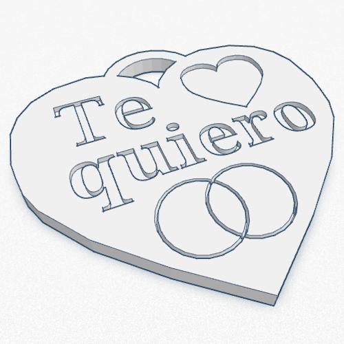 llavero corazon 3d