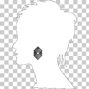 silueta pendiente 3d cuadros geometricos