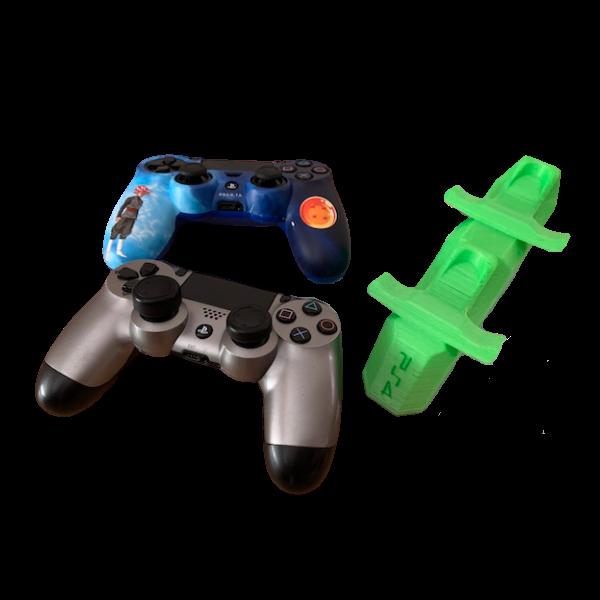 soporte 2 mandos play ps4 verde