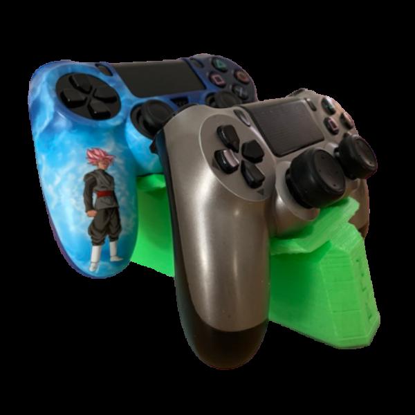 soporte 2 mandos playstation ps4 verde