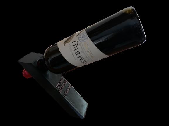soporte botella vino 3d inclinado